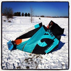 Snowkiting #michigan #kiting #kiteboarding #snowkiting @liquidforcekb (bryan elkus) Tags: square lofi squareformat iphoneography instagramapp uploaded:by=instagram