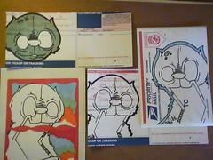 morning sticker sesh (Mask-KLPR-) Tags: art illustration sketch sale stickers buy session piece slaps illustraition