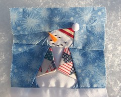 My little snowman for the BBC... (ruthiequilts) Tags: bbc snowmen quilts snowpeople paperpieced bittyblockcommittee