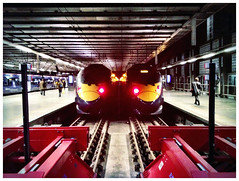 St Pancras Symmetry (Matthew Koch, Twitter @mwkdesigns) Tags: london train underground tube symmetry trainstation symmetrical stpancras photoart fineartphotography artphotography