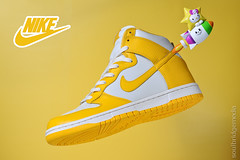 DSC_6884 copy (soulbridge media) Tags: white yellow photo high top sneakers nike dunk soulbridgemedia