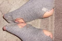Today's socks (lasseman92) Tags: broken socks out big sock toe hole rags bad holes holy terrible worn torn heel cry trasig hobo hollow ragged tattered holey inherited hål froozen coold tå strumpa häl luffar strumphål utslitna