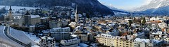 Chur Panorama (Marcel Cavelti) Tags: winter panorama snow 35mm schweiz switzerland town fujifilm chur graubnden grisons xpro1 dscf1543bearb