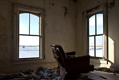 The Trap (Rodney Harvey) Tags: windows snow cold illinois decay interior empty abandonedhouse bitter oldchair