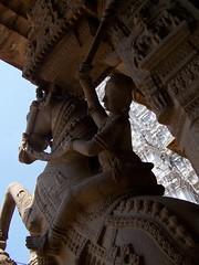 100_7299 (Rik de Goede) Tags: statue temple trichy horseman ranganathaswamy tiruchirappalli hindusculpture dravidianart