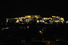 city lights (dimitra_milaiou) Tags: city love architecture night dark greek lights design ancient nikon europe poetry d magic hill hellas athens greece acropolis archaeological 90 archeological akropolis dimitra d90     milaiou