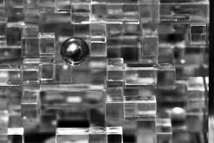 Day 138: On the edge of something... else (Bruce Guenter) Tags: blackandwhite bw monochrome ball toy puzzle maze