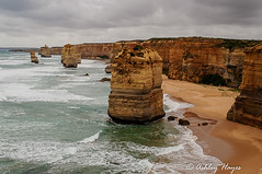 12 Apostles, Great Ocean Road (Ashley I Hayes) Tags: ocean sea seascape sand day cloudy australia melbourne victoria cliffs greatoceanroad twelveapostles 12apostles rockformations