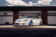 Acura RSX (Evano Gucciardo) Tags: lighting new york art magazine japanese 50mm nikon day garage flash low style automotive sharp rochester commercial frame tuner s3 acura strobe stance d800 rsx gucciardo autoart strobist evano evog