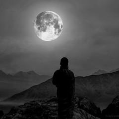 Full Moon Meditation (h.koppdelaney) Tags: life moon art digital photoshop peace view symbol buddha religion picture monk buddhism philosophy harmony mind meditation teaching awareness metaphor enlightenment stillness psyche symbolism psychology archetype conscious koppdelaney