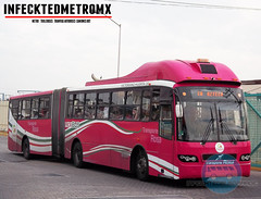 Volvo BRT 7300 Mexibus Rosa (infecktedbusgarage) Tags: bus volvo autobus brt busrapidtransit articulado estadodemexico ecatepec mexibus transporterosa transmasivo 7300brt volvo7300 transportemexiquensedelbicentenario