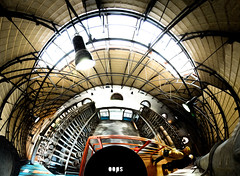 180 degrees of oops (amfipolos) Tags: panorama photoshop industrial factory interior gaz 360 athens panoramic 180 greece oops sonycybershot polarcoordinates littleplanet polarpanorama ringworld αθήνα εργοστάσιο stereographicprojection γκάζι gazworks pixelbender