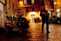 2011-004452 (Werner Nystrand) Tags: lighting street city italien italy night evening energy europa europe vespa pavement capital storefront gata moped rom natt stad colorimage kvll trottoar belysning energi skyltfnster huvudstad frgbild