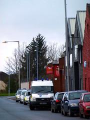 Armed police raid business on well street. (dddoc1965) Tags: david cameron paisley photographer ferguslie park