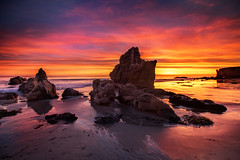 Another World (Extra Medium) Tags: sunset orange beach rocks purple malibu elmatadorstatebeach nikond4 leefoundationkit lee9gndhard leewideangleadapter