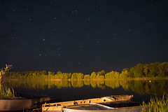 Midnight Reflection (alexwinger) Tags: stars night nikon nature boards summer autumn midnight reflection forest russia cool light quiet green yellow