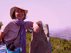 Her smile in the morning (angeloska) Tags: ikaria hikingtrails opsikarias aegean greece signage    april girl smile face portrait
