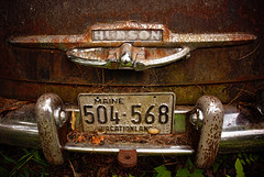 last stop vacationland (jtr27) Tags: dsc02914e jtr27 sony alpha alpha7 a7 ilce7 ilc ilce csc mirrorless canon fd fdn nfd 24mm f28 wideangle manualfocus hudson car auto automobile junkyard maine vacationland entropy decay oxidation rust corrosion patina detail newengland