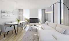 Apartment CGi Visuals (PGDesigns.co.uk) Tags: cgi 3d visual visualisation render uk apartment flat sheffield yorkshire 3dstudiomax vray photoshop