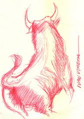 toro a lapicero (ivanutrera) Tags: toro toroenlapicero draw dibujo drawing dibujoalapicero dibujoenboligrafo animal sketch sketching lapicero boligrafo