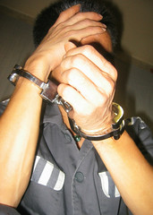 Extra heavy handcuffs (asiancuffs) Tags: handcuffs handcuffed arrest arrested inmate prisoner shackles shackled