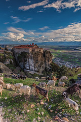 St. Stephen Meteora (mika_wist) Tags: greece meteora mountains clouds monastery cliffs