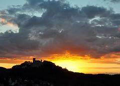 speechles... / sprachlos... (be there...) Tags: sunset sonnenuntergang bur castle colors farben wolke clouds hill hgel falkenstein bayern bavaria germany oberpfalz nikon d90 korzec silhuette