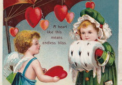 """ELLEN CLAPSADDLE CUPID ANGELS PASSION PRETTT VALENTINE GIRL A heart like this meas endless BLISS - LOVE IS IN THE AIR International Art Card Series No 12321 (UpNorth Memories - Donald (Don) Harrison) Tags: vintage antique postcard rppc """"don harrison"""" """"upnorth memories"""" upnorth memories upnorthmemories michigan history heritage travel tourism """"michigan roadside restaurants cafes motels hotels """"tourist stops"""" """"travel trailer parks"""" campgrounds cottages cabins """"roadside entertainment"""" """"natural wonders"""" attractions usa puremichigan"""
