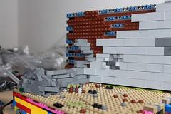 Rocks build LotR (Altezza RS) Tags: lotr lego lordoftherings urukhai wip wall helmsdeep herrderringe