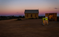 Closed for the day (DingoShoes - life's a dream) Tags: silverton sunset church artgallery artist painter art johndynon nsw australia outback light earth dry isolated barren rustic landscape sky wanderlust holiday holidaydestination travelphotography nikond7000 afsnikkor18105mm13556ged silence timestoodstill still stillness peaceful solitude