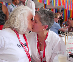 pf15mck016 (Symic) Tags: select 2016 pride salt lake city utah slc park celebrate equality festival rainbow kiss couple happy proud mona stevens christan cristen