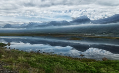The misty fjord (marko.erman) Tags: askrudsfjordur iceland islande fjords fjord east eastern mist misty clouds landscape panorama nature sony shore extrieur paysage montagne colline champ prairie