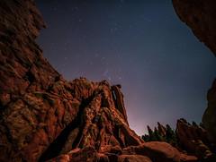 Night in the Garden (PT Photo) Tags: gardenofthegods colorado lightroom5 pse12 sigma1020mm vertorama night stars canon70d moonlight ptphoto