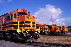 Ready for work (Bingley Hall) Tags: rail railway railroad transport train transportation trainspotting locomotive engine australia diesel emd westrail wagr southaustralia drycreek gwa geneseewyomingaustralia 645e clyde