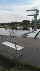 Bookcrossing release (zimort) Tags: bok book bookcrossing wildrelease park bench benk fastland gjvik norge norwegen norway swimmingpool badeplass badebasseng hovdetjernet