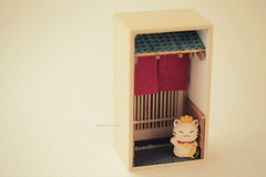 DIY dollhouse,Japanese style dollhouse,handmade lucky cat,DIY miniature,handmade home deco,handmade art dolls (charles fukuyama) Tags:  miniature dollhouse dollandminiature handmadecatdoll kikuike artdoll japanstyle giftideas cute kitten kitty