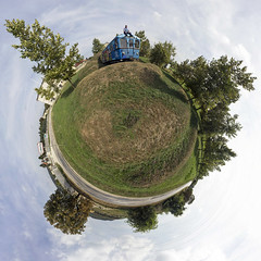 My little planet :) (lovigabi) Tags: cskberny metrowagonmash metro motorcar statue memorial panorama planet funny joke