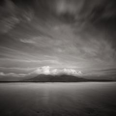 Rum (Willem Eelsing) Tags: rum eigg scotland uk clouds canon1635mmf4l bw blackandwhite monochrome canon longexposure highlands