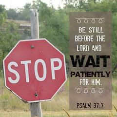 StopWaitPatiently (Yay God Ministries) Tags: psalm377 bestillbeforethelordandwaitpatientlyforhim yaygod psalm37 god bible scripture
