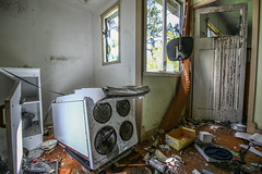 Kitchen (Voodoooz) Tags: urbex urban explore abandoned drain brisbane city queensland australia tourist water street river house me red blue white tree sky night art light summer old hot sexy babe travel tourer adventure camera building extreme danger photography flashback indoor architecture beam outdoor