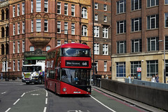 London Central LT686 LTZ1686 Route 68 Waterloo (TfLbuses) Tags: tfl public transport for london red double decker buses go ahead central wrightbus new routemaster borismaster nb4l hhybrid