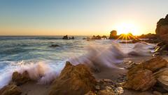 Secret Little Cove,  09-25-2016 (JMG Images) Tags: landscape ocean waves sunset water rocks splash