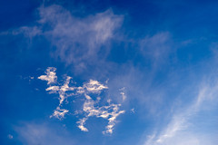 Alien Clouds in Blue Sky (danliecheng) Tags: abstract background blue clouds nature shapes sky special trails white
