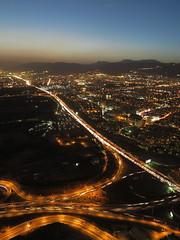 Milad Tower Borj-e Milad Tehran Teheran Iran West Asia (hn.) Tags: road street city sunset urban copyright tower evening abend persian highway asia asien heiconeumeyer sonnenuntergang traffic iran middleeast aut