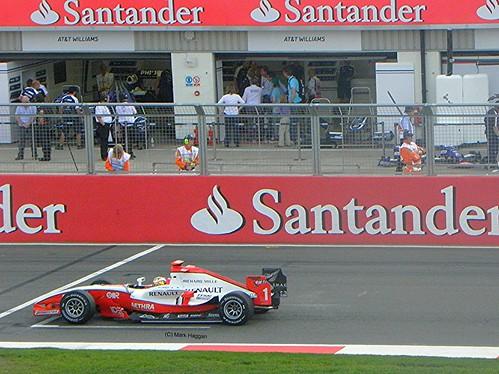 Jules Bianchi in his ART Grand Prix GP2 car at the 2010 British Grand Prix