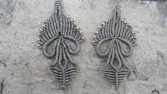 orecchini grigi a margarete (patty macram) Tags: bijoux macrame gioielli margarete macram margaretenspitze