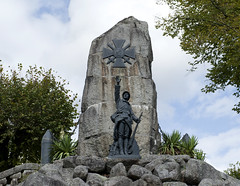 Nontron Great War Memorial (dcnelson1898) Tags: travel france statue soldier army town memorial europe rustic dordogne worldwari hilltop walledtown aquitaine nontron