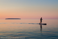 lake huron (Sameer Makwana) Tags: sunset lake ontario canada water aqua outdoor turquoise floating clear brucepeninsula tobermory rockformations paddleboard spongerocks