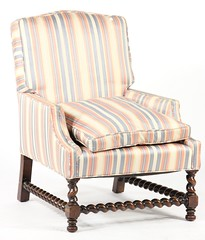 52. Upholstered Barley Twist Chair