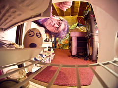 349/365 (Bradley Nash Burgess) Tags: portrait selfportrait me self project fridge egg fisheye inside 365 eggface project365 gopro 365project